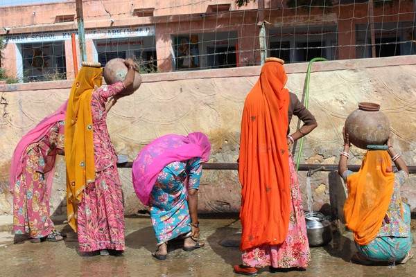 Ladies at a well in Rajasthan